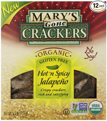 Hot n Spicy Jalepeno 12 of 5.5 OZ By MARY`S GONE CRACKERS