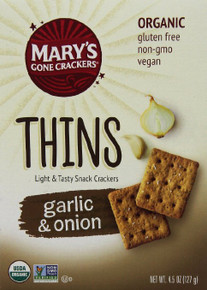 Thins Garlic & Onion 6 of 4.5 OZ By MARY`S GONE CRACKERS