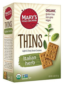 Thins,Italian Herb 6 of 4.5 OZ By MARY`S GONE CRACKERS