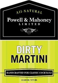 Dirty Martini 6 of 12.68 OZ By POWELL & MAHONEY LIMITED