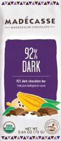 92% Dark Chocolate 12 of 2.64 OZ By MADECASSE
