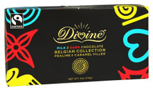 Mlk & Dk Choc Belgian Collection 10 of 4 OZ By DIVINE CHOCOLATE