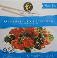 Chicken,General Tso W/Rice 8 of 9 OZ By FEEL GOOD FOODS