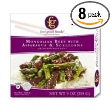 Mongolian Beef w/Aspargs&Scallions 8 of 9 OZ By FEEL GOOD FOODS