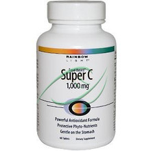 Super C 1,000 mg 60 Tablets From Rainbow Light