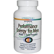 Performance Energy for Men Multi + Daily Program 90 Tablets From Rainbow Light