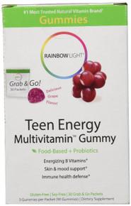 Teen Energy Multivitamin Gummies 30 PKT By Rainbow Light
