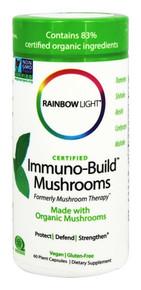 Certified Immuno Build Mushrooms 60 CAPVEGI By Rainbow Light