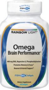 Omega Brain Performance 60 Softgels Rainbow Light