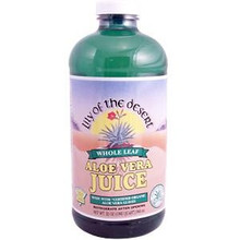 Whole Leaf Aloe Vera Juice 32 oz 1 Quart From Lily of the Desert