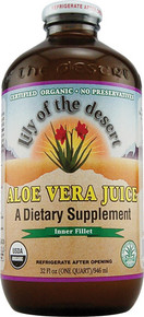Aloe Vera Juice Preservative Free 32 oz Lily Of The Desert
