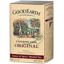Original Sweet & Spicy Herbal Tea Caffeine Free 18 Wrapped Tea Bags 6 Pack From Good Earth Tea