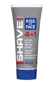 Natural Man 4 in 1 Shave Aqua 6 OZ By Kiss My Face