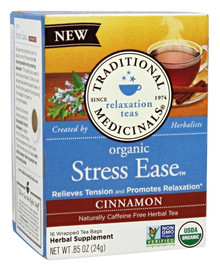 Organic Stress Ease Cinnamon Tea 16 BAG By Traditional Medicinals Teas