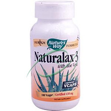 Naturalax3 with Aloe Vera 430 mg 100 Vcaps From Nature's Way