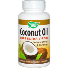 Nature's Way Coconut Oil Pure Extra Virgin 1,000 mg 120 Softgels