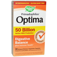 Primadophilus Optima Digestive Balance 50B Shelf Stable 30 CAP VEGI From NATURE'S WAY