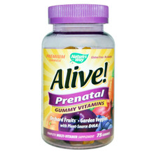 Alive! Prenatal Gummy Vitamins 75 CT By Nature'S Way