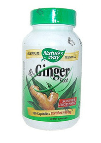 Ginger Root 180 Capsules From Nature's Way