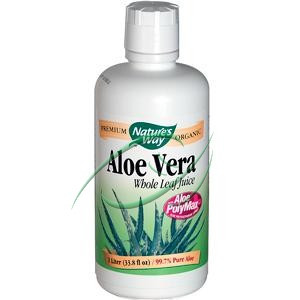 Aloe Vera Whole Leaf Juice 33.8 oz (1 Liter) From Nature's Way