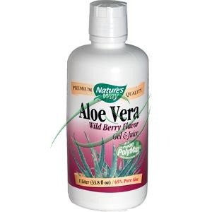 Aloe Vera Wild Berry Flavor 33.8 fl oz (1 Liter) From Nature's Way