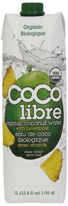 Coconut Water, Pineapple (1ltr), 12 of 33.8 OZ, Coco Libre
