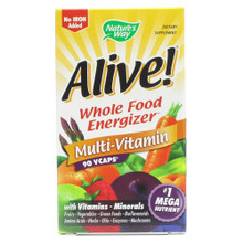 Alive! MultiVitamin Whole Food Energizer (with iron) 90 vegicaps from Nature's Way
