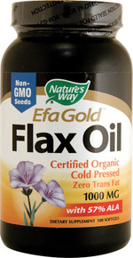 Nature'S Way Flax Oil 1000Mg 100 Softgel