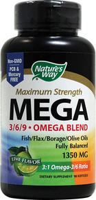 Mega 3/6/9 Omega 90 Softgels Nature's Way
