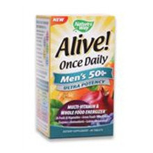 Alive! Once Daily Men's 50+ Multi-Vitamin 60 Tablets Nature's Way