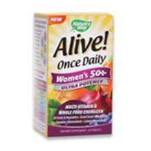 Alive! Once Daily Women's 50+ Multi-Vitamin 60 Tablets Nature's Way