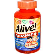 Nature's Way Alive! Gummies Multi-Vitamin for Children Natural Cherry Grape & Orange Flavors 90 Gummies