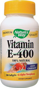 Vitamin E-400 400 IU 100 Softgels From Nature's Way