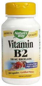 Vitamin B2 100 mg 100 Capsules 100 mg Vitamin B 2 From Nature's Way