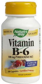 Vitamin B-6 100 mg 100 Capsules From Nature's Way