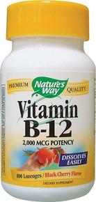 Vitamin B-12 2000 mcg 100 Lozenges From Nature's Way