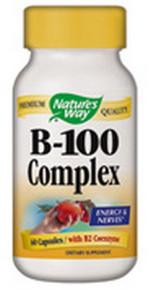 Vitamin B-100 Complex 60 Capsules Nature's Way