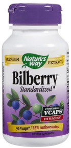 Bilberry Standardized 90 Capsules 80mg From Nature's Way