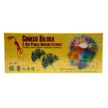 Ginkgo Biloba & Red Panax Ginseng Extract 10 x 10cc Prince of Peace