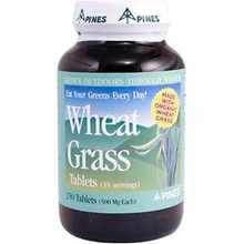 Wheat Grass 500 mg 250 Tablets From Pines Internationals
