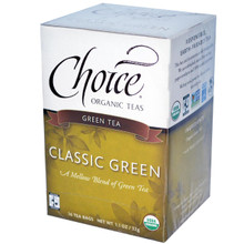 Classic Blend Green Tea 6 Pack of 16 Tea Bags From Choice of Organic Teas