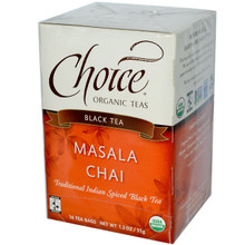 Choice Organic Teas Black Tea Masala Chai 16 Tea Bags 1.2 oz (35 g)