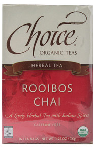 Choice Organic Teas Herbal Tea Rooibos Chai Caffeine Free 16 Tea Bags 1.27 oz (36 g)