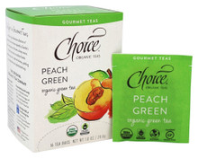 Peach Green 16 BAG By Choice Organic Teas