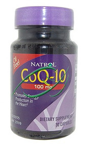 CoQ-10 Coenzyme Q-10 Energy Production 30 Capsules 100mg From Natrol
