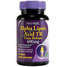 Alpha Lipoic Acid TR 600mg 45 tab From Natrol