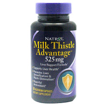 Milk Thistle Advantage 60 Vegetarian Capsules Natrol