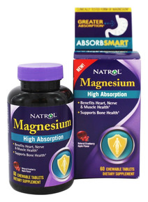 High Absorption Magnesium 250 mg Chew 60 TAB By Natrol