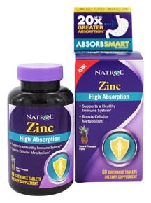 High Absorption Zinc 7.5mg Chew 60 TAB By Natrol