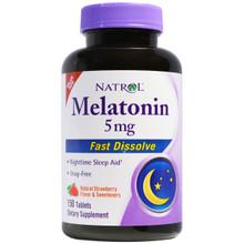 Melatonin 5mg Fast Dissolve Strawberry 150 TABLET By Natrol